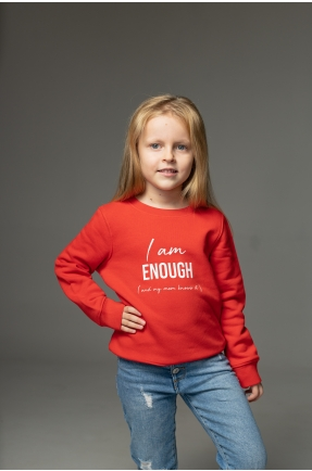 Hanorac rosu I am enough (and my mom knows it)