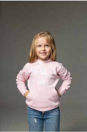 Hanorac roz All I need is love