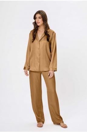 Pantaloni lungi aurii