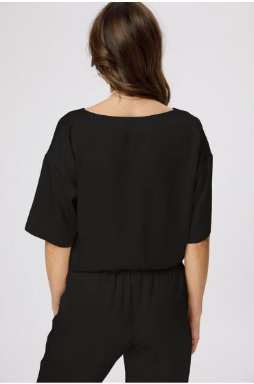 Bluza cu decolteu rotund neagra