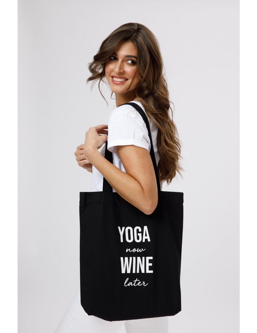 Geanta mica Yoga now wine later