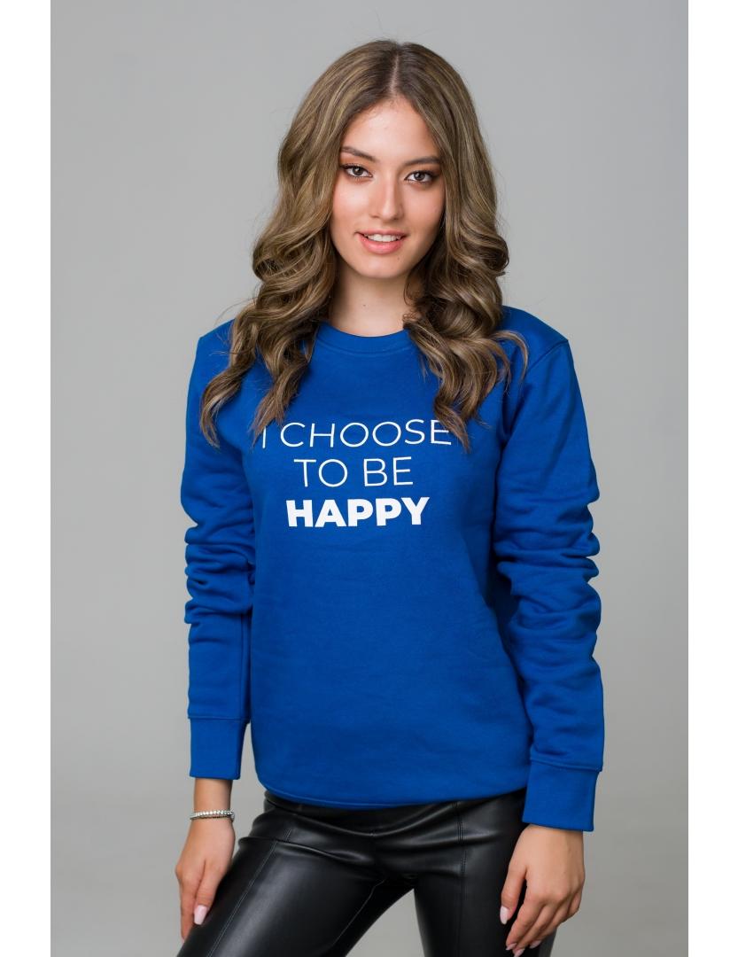 Hanorac albastru I choose to be happy