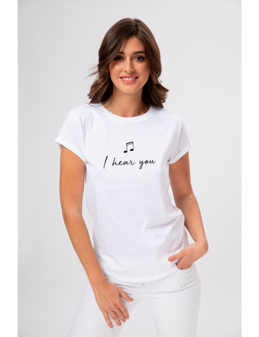 Tricou din bumbac organic I hear you