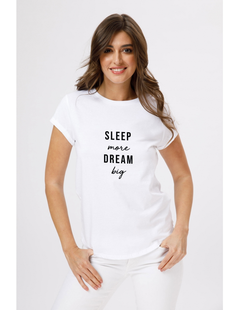 Tricou din bumbac organic Sleep more dream big