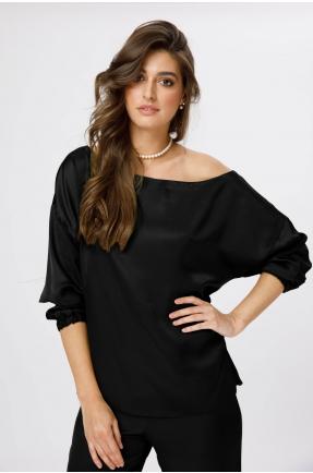 Bluza cu un umar gol neagra