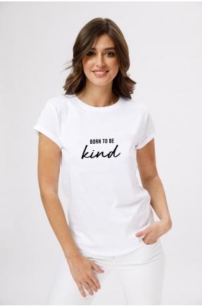 Tricou din bumbac organic Born to be kind