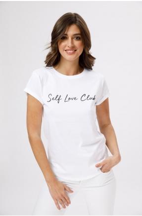 Tricou din bumbac organic Self Love Club