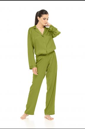 Pantaloni lungi verde fistic