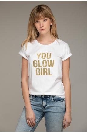 Tricou din bumbac organic You glow girl