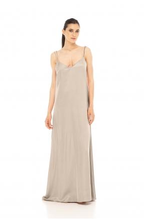 Rochie lunga cu spatele gol nude
