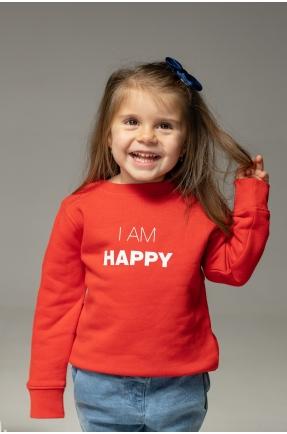 Hanorac rosu I am happy