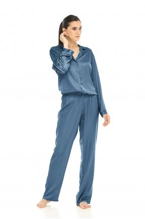 Pantaloni lungi albastri denim