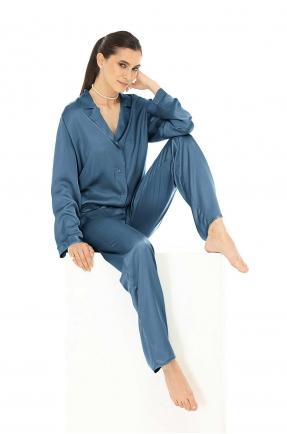 Camasa cu maneca lunga albastru denim