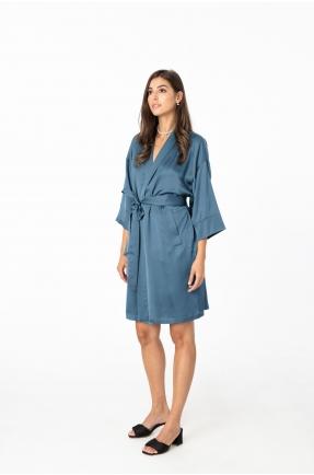 Kimono albastru denim