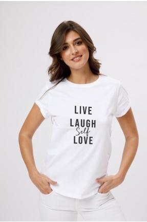 Tricou din bumbac organic Live Laugh Self-Love