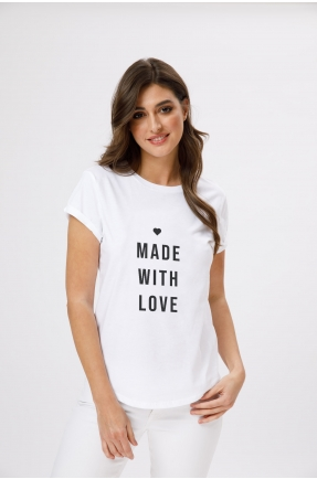 Tricou din bumbac organic Made with love
