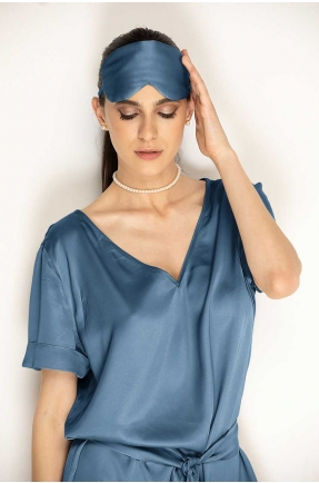 Masca pentru dormit albastru denim