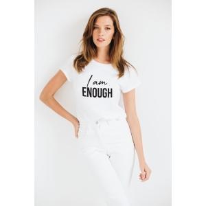 Tricou din bumbac organic I am enough
