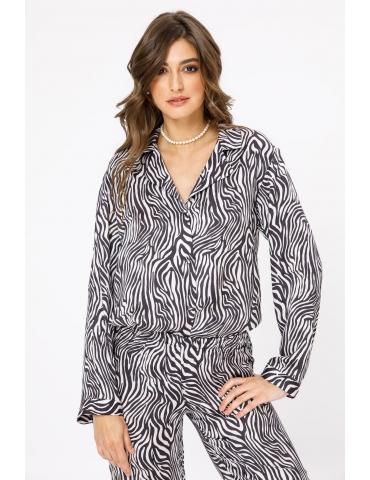 Camasa cu imprimeu zebra