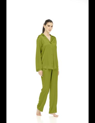 Camasa cu maneca lunga verde fistic