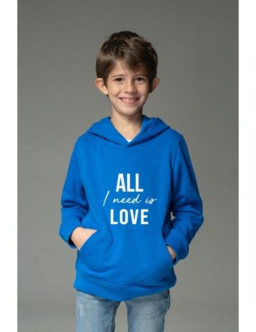 Hanorac albastru All I need is love