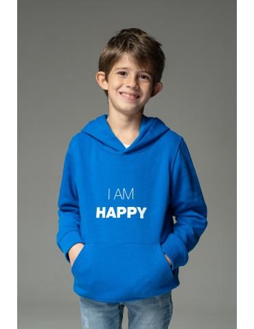 Hanorac albastru I am happy