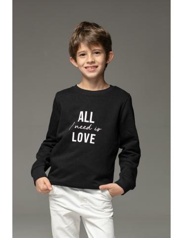 Hanorac negru All I need is love