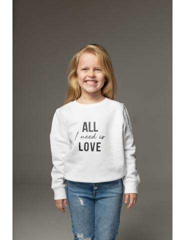 Hanorac alb All I need is love