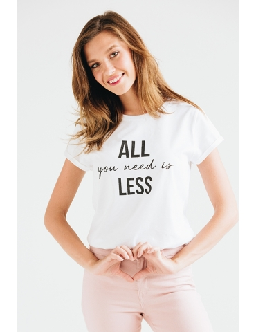 Tricou din bumbac organic All you need is less