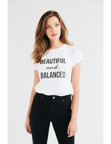 Tricou din bumbac organic Beautiful and balanced